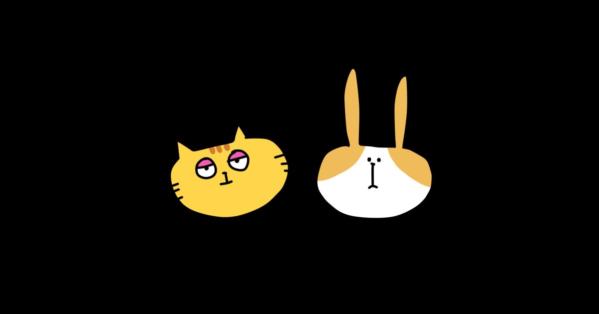 ネコ、ウサギ